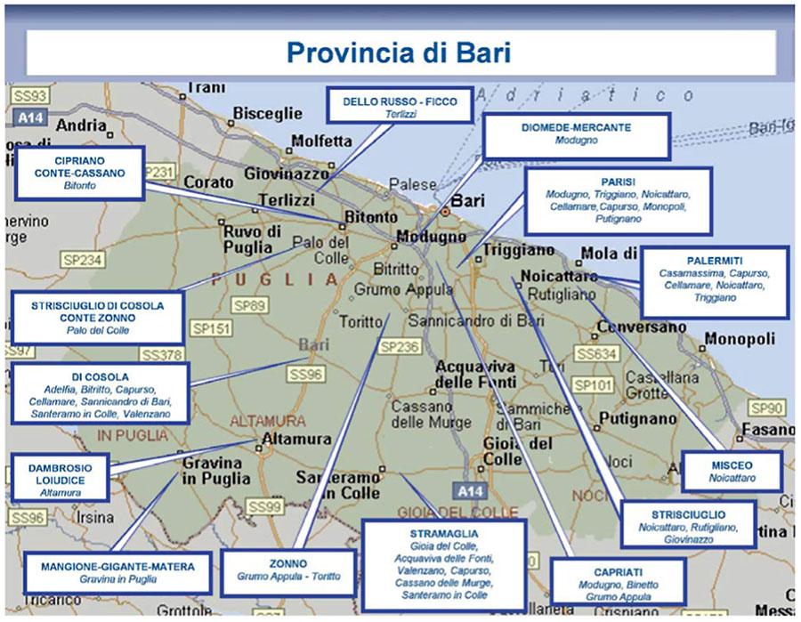 Cartina Puglia Noicattaro.La Mappa Della Criminalita Organizzata In Puglia